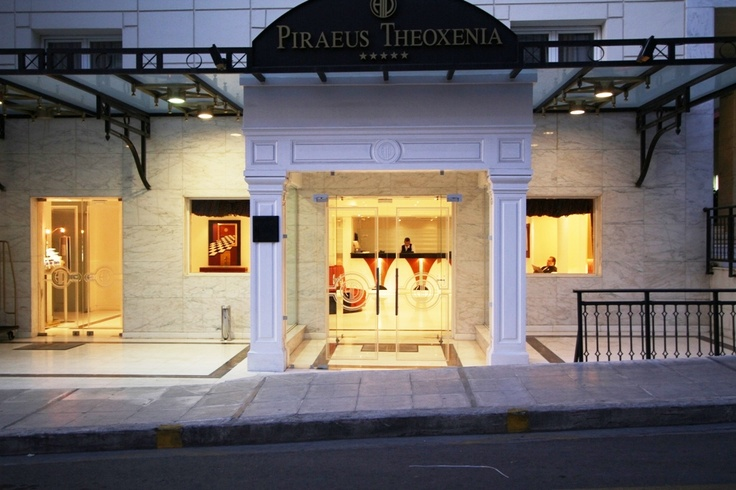 Piraeus Theoxenia Entrance, Luxury Boutique Hotel, Piraeus, Athens, Greece