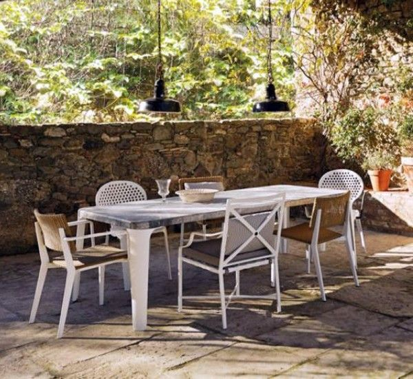 Oblò Is The Table By Paola Navone For The Brand Triconfort Whit Marble Top  And Aluminum Legs. The Collection Of Outdoor Furniture Elements In Aluminum  Oblò ...