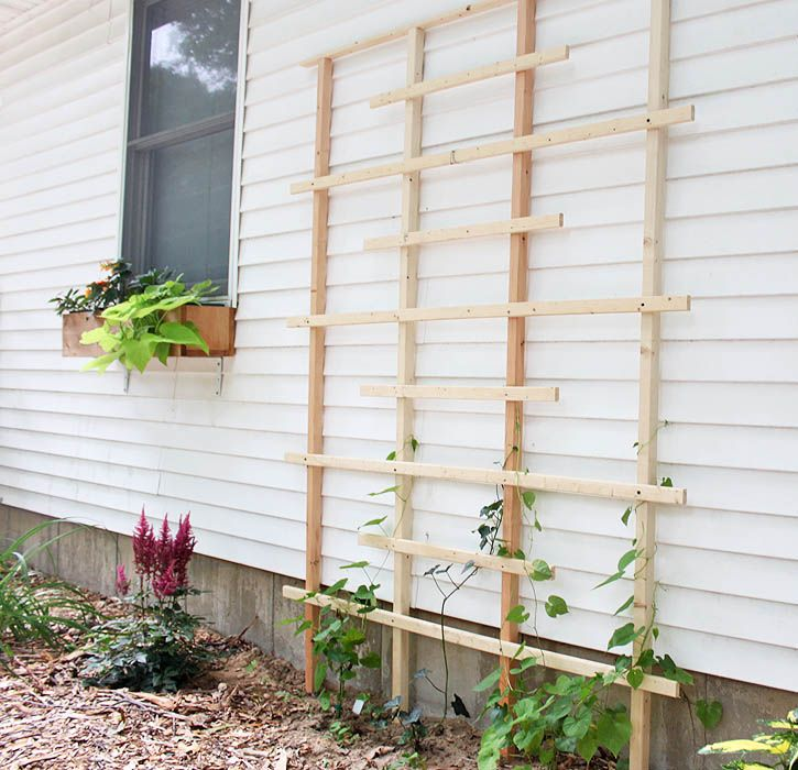 Trellis Made From Scrap Pieces of Wood