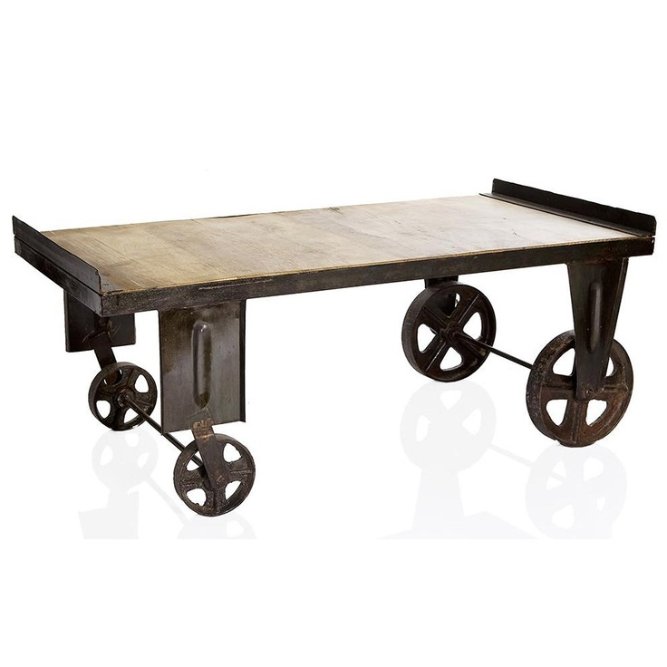 Deon Industrial Coffee Table: Industrial Coffee Table