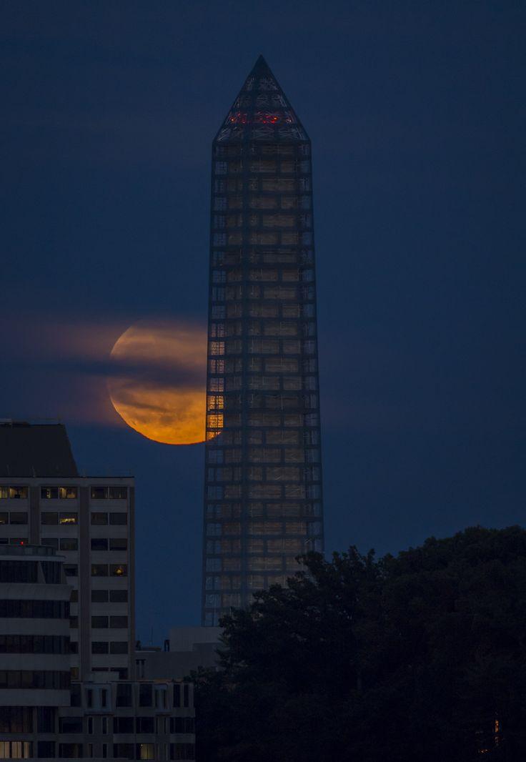 Supermoon in Washington