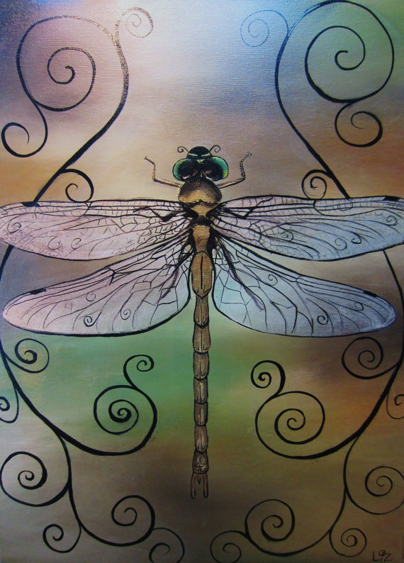Dragonfly print 12x16.  This is the work of a local Belleview, FL artist!  Beautiful stuff.