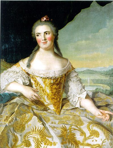 Madame Elisabeth or Madame Premiere de France,first daughter of Louis XV and Marie Leszczynska,after a painting by Jean-Marc Nattier,c.1750