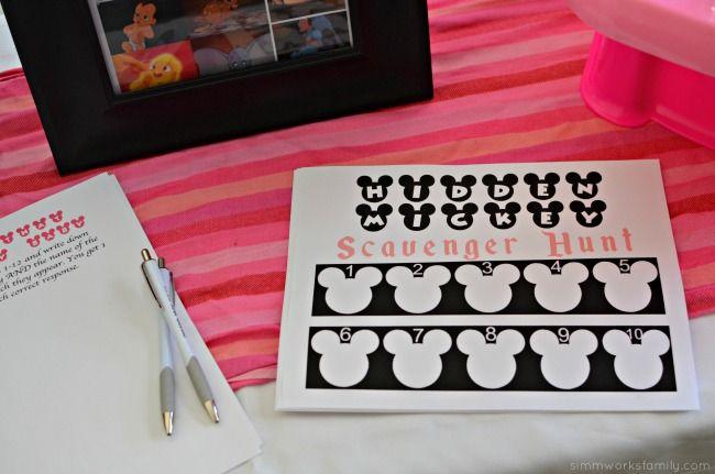 Disney Baby Shower Games - Hidden Mickey Scavenger Hunt