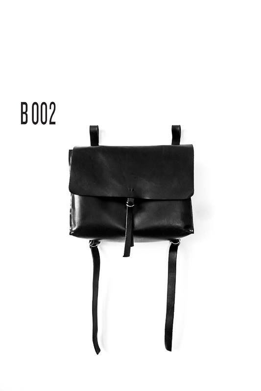 B002  leather backpack