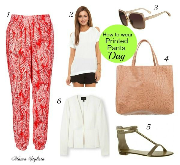 How to wear printed pants for day and night | Mama Stylista - Millers printed pants