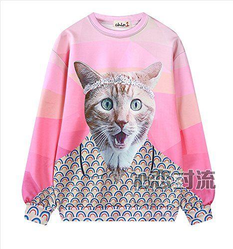 (シーファニー)Cfanny レディース 可愛い 星空 猫プリンター アルパカ 秋冬 原宿系 お出かけ プルオーバ…