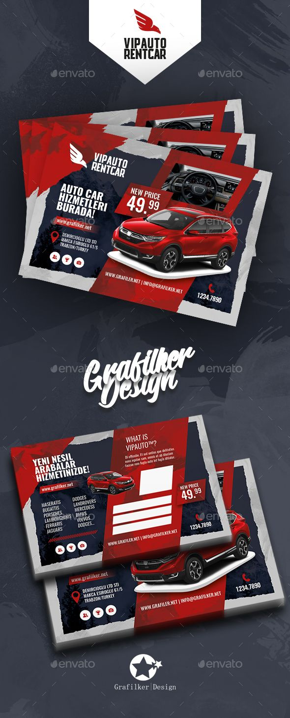 Rent A Car #Postcard Templates - #Cards & Invites Print Templates