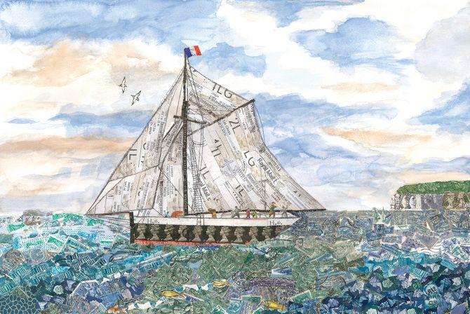 Ships - Rachel Markwick - Fine art & collage