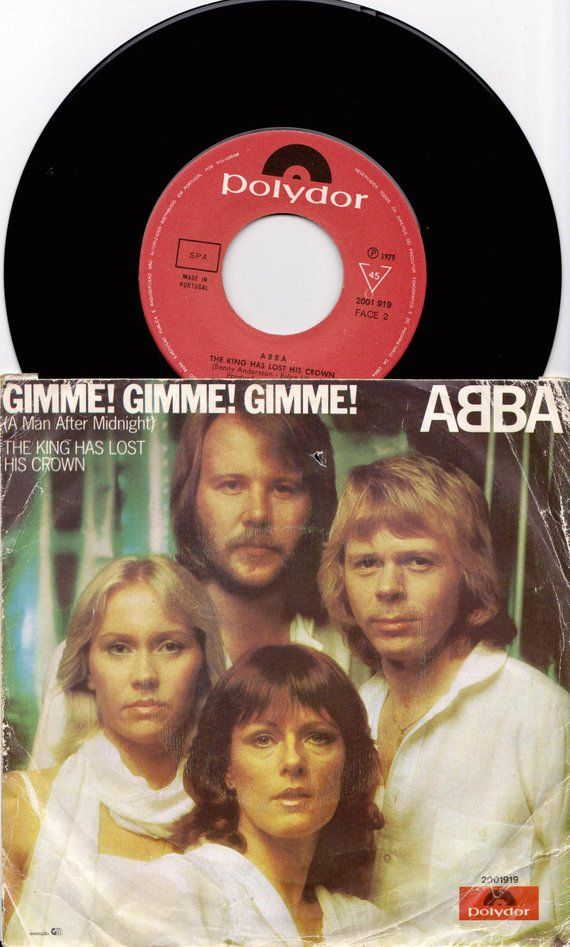 Abba Gimme Gimme Gimme 1979 Portugal Issue Rare 7 45 Rpm Vinyl