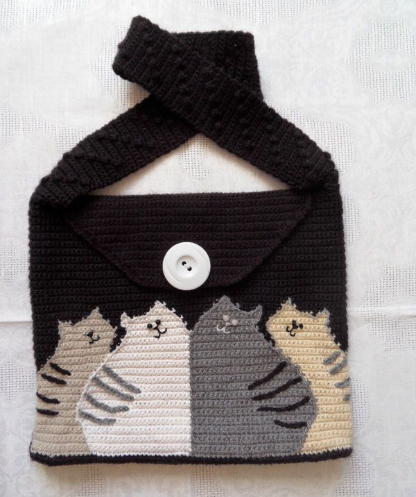 Cat Bag Knitting Pattern : 1000+ ideas about Cat Purse on Pinterest Cat Bag, Charms ...