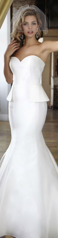 25 cute peplum wedding dress ideas on pinterest peplum style peplum wedding dress inna erten junglespirit Choice Image