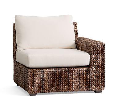 Seagrass Square Arm, Right Arm Chair, Havana Dark