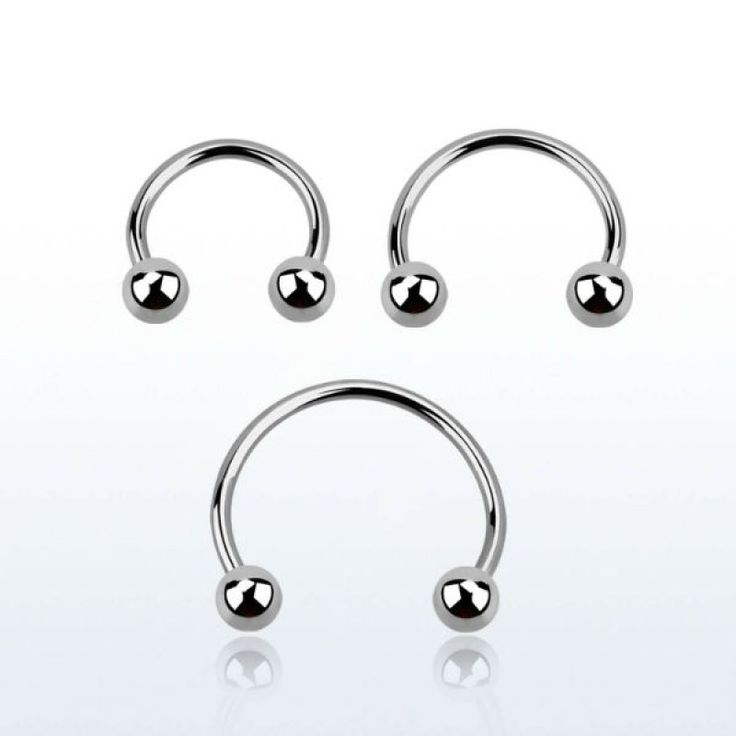 Anillo abierto barbell circular de 0.6 mm de grosor con bolas. Varios diámetros. Ideal para uso en tu piercing de ceja, labio, nariz, oreja y más!
