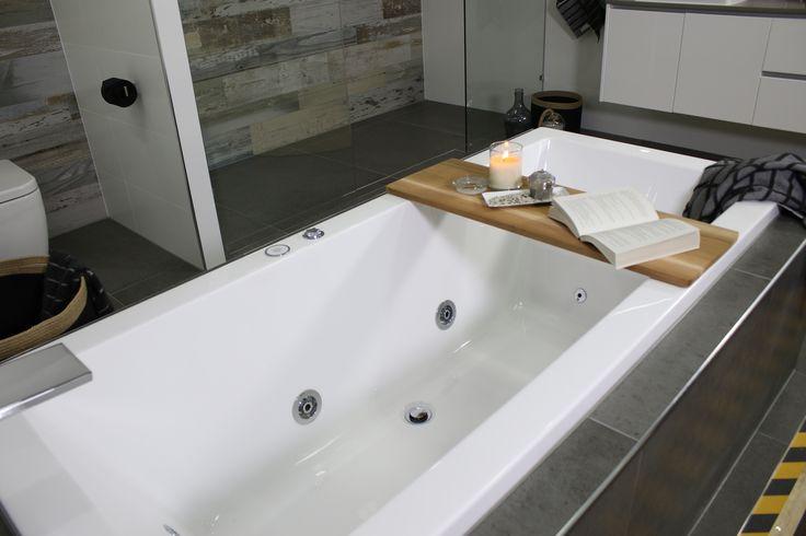 Ayden chose a luxurious Felino Drop in Spa Bath with Waterfall Bath Spout