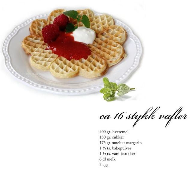 Norwegian waffles - so good ☆ from mye blog - goggle translation on my site