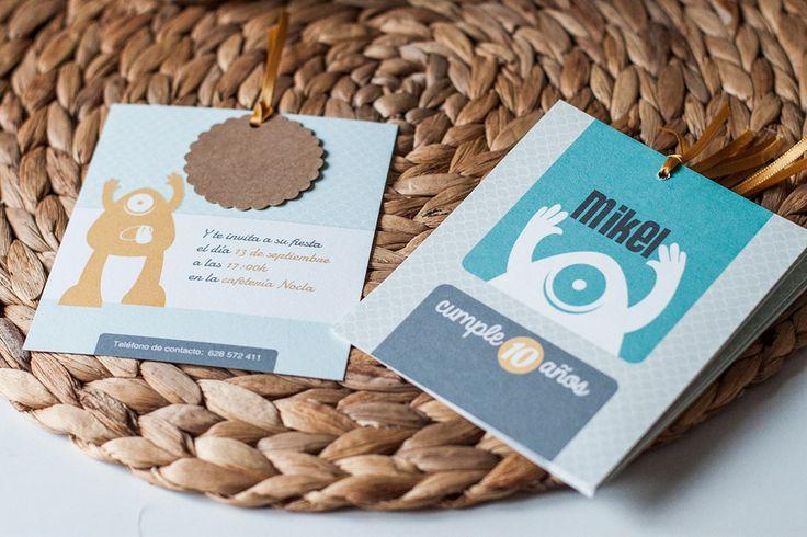 invitación niño http://www.imaginaran.com/2013/09/cumpleanos-para-dos.html?spref=fb