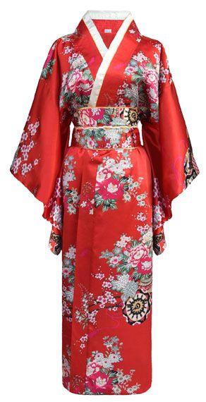 Kimono japonais geisha rouge pour déguisement japonaise La Cité Interdite