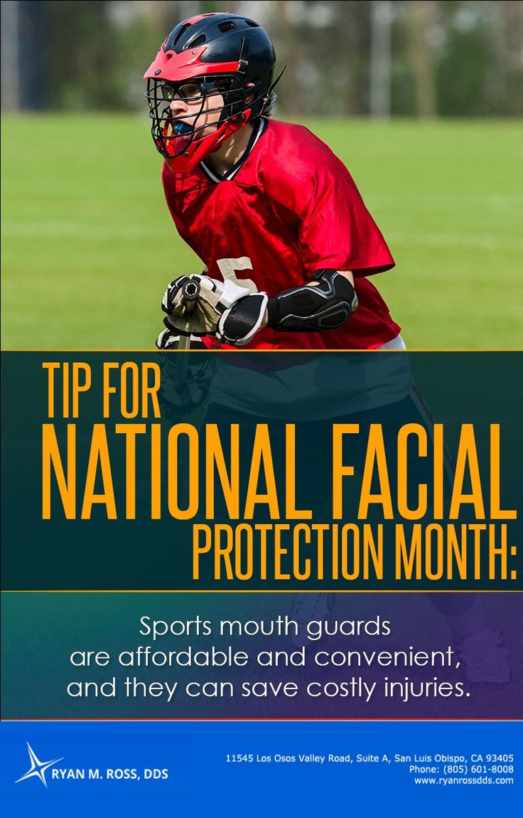 We offer custom made mouth guards for optimal fit and maximum protection. Call Ryan M Ross DDS at (805) 601-8008 for an appointment.#affordablemouthguards #nationalfacialprotectionmonth2017