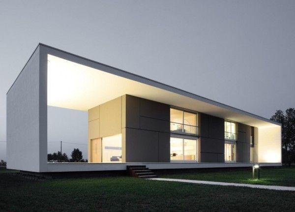 Cut Out View from Modern Monolithic House Design in Castelnovo Sotto Reggio Emilia Italy 600x431 Modern Monolithic House Design in Castelnovo Sotto, Reggio Emilia, Italy