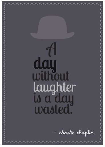 Charlie Chaplin quote  Typographic poster by MsPikku