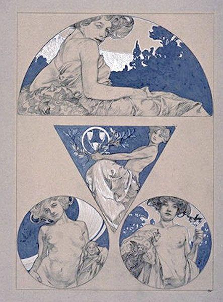 Illustration from Documents Decoratifs by Alphonse Mucha, 1901