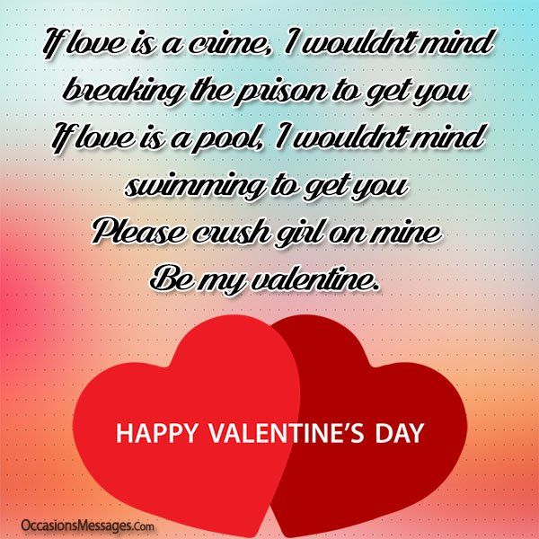 Valentine S Day Messages For Girl Crush Valentines Day Messages