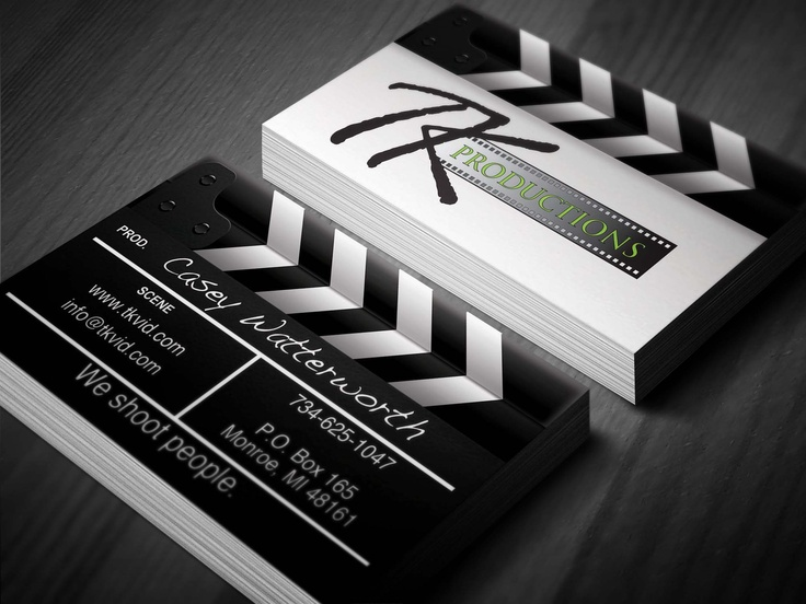 Business card we designed for a local videographer and production company    http://www.nerdydesigns.com