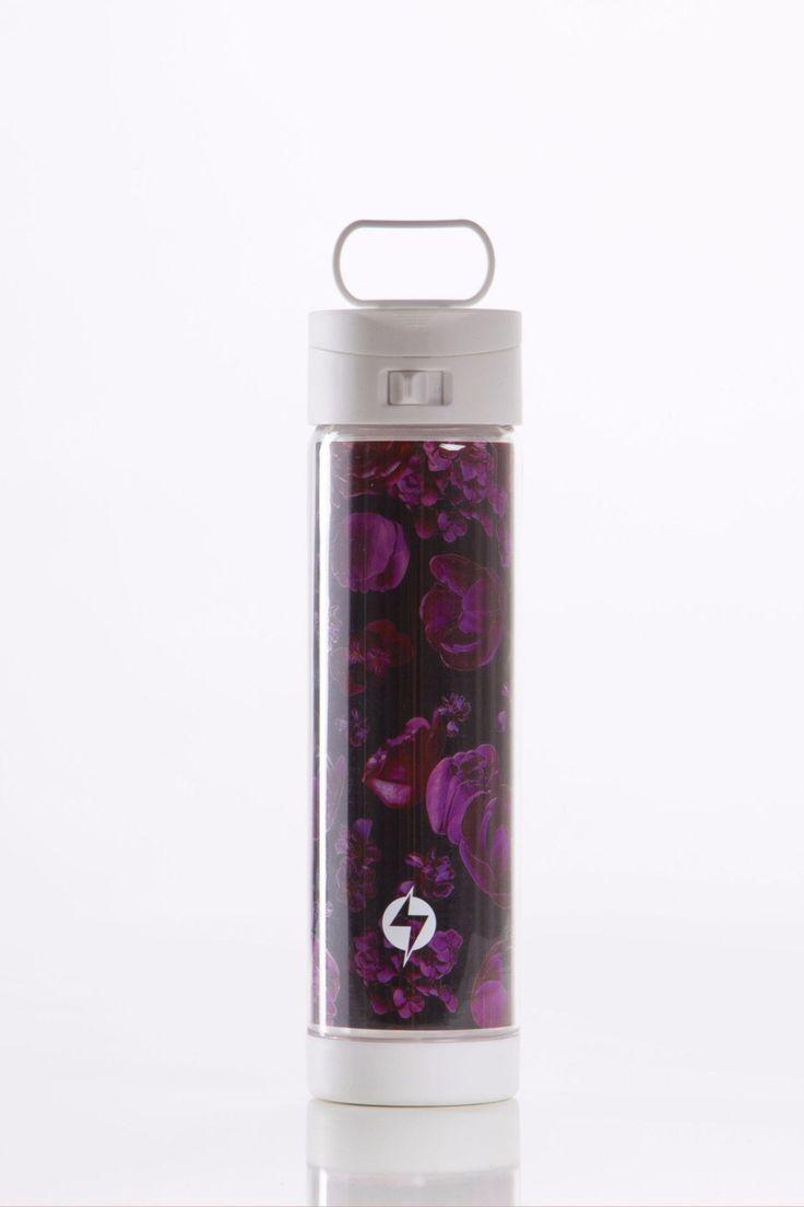 Dark Bloom Air-Cushioned Glass Bottle