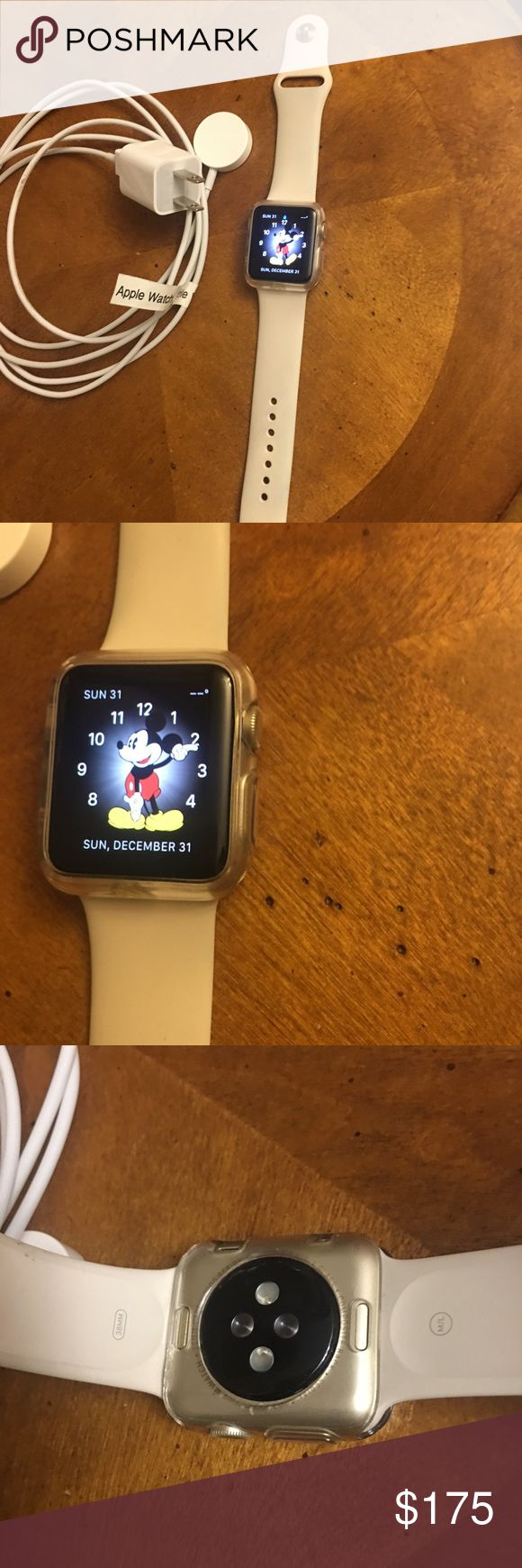 Apple Watch series 1 38mm Gold PRICE FIRM Has some light rubbing on the undercarriage do to wear. Other than that it's good condition. No box or manuals, just the watch, charger, and the clear Casemate cover on it. Will come fully charged and ready to pair with your iPhone. apple Accessories Watches