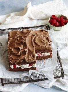 Chokladtårta med crème fraiche