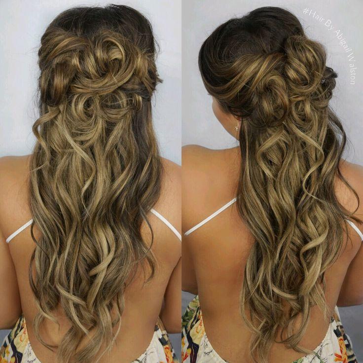 Rooty hair color, Balayage Highlights, Cool Caramel Balayage, Haircolor, Romantic Updo, Half Up Hairstyle, Hair by Abigail Walston