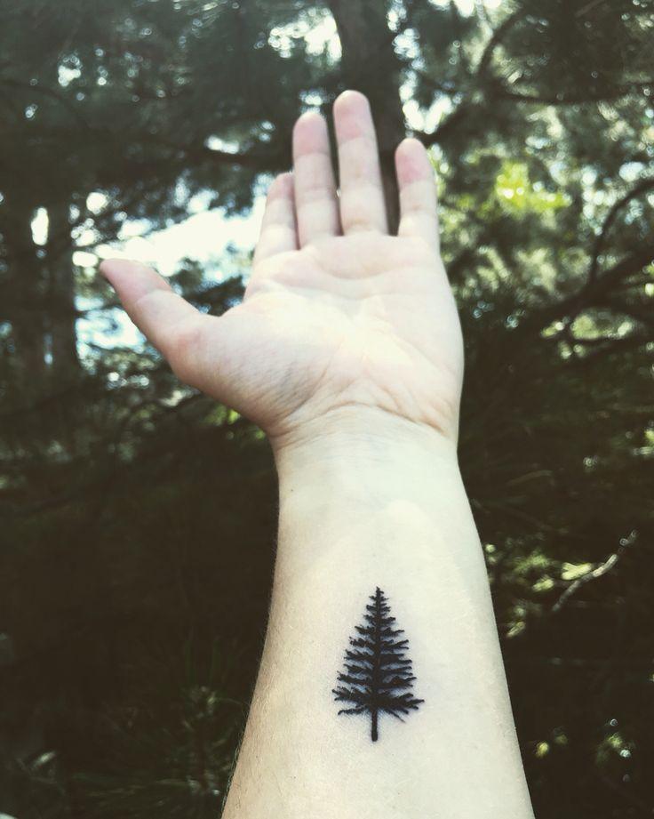 My first tattoo. #pinetree #small #black #wrist