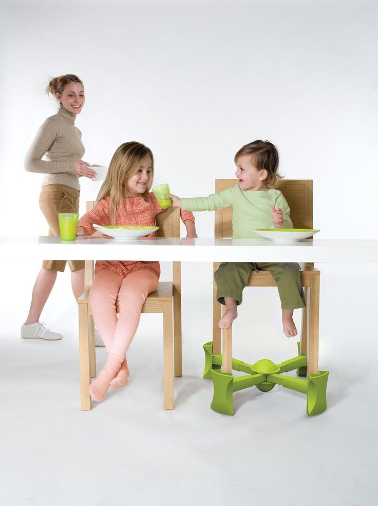 Booster seat for dining that goes under the chair! The portable chair booster is perfect for little kids who want to sit like big kids. It raises the height of a chair by simply snapping underneath a 4 legged chair in seconds. It is engineered to improve chair stability and stays attached when the chair is moved.  #Baby #Toddler #Travel #Dining #Feeding #High #Chair #Foldable #Seat