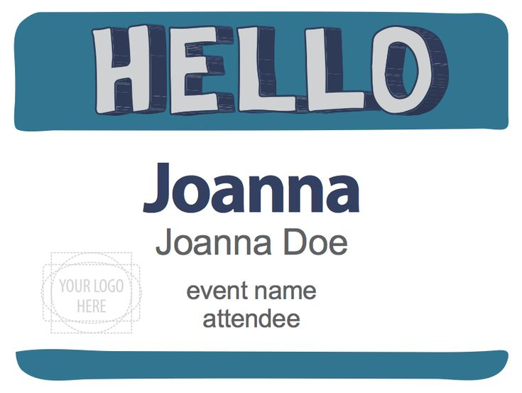 Name tags design template