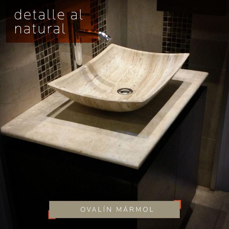 DETALLE AL NATURAL con esta pieza para tu lavabo #ovalín de #mármol que proyecta elegancia y distinción a tu baño. Encuéntralo en DECERAMICA.COM