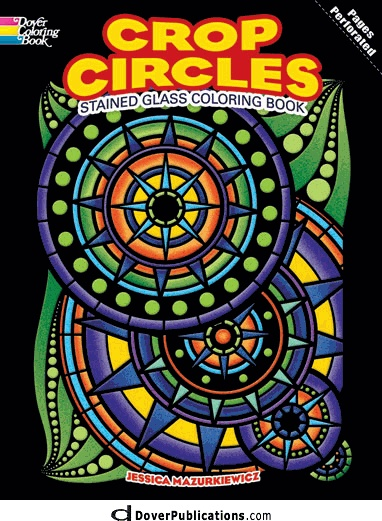 Crop Circles Stained Glass Coloring Book