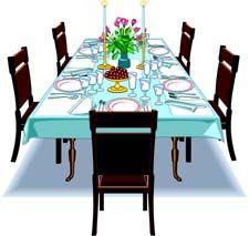 Dinner Table Clip Art Set