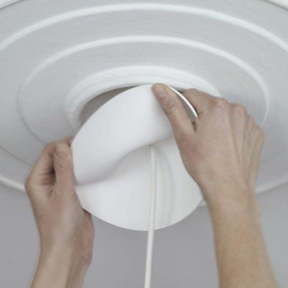 Plafonnier Multiples Cables Textiles Electriques Atelier 159 Cable Textile Marseille Rosace Plafond Fil Electrique Plafonnier