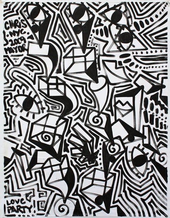 Original Black And White Abstract Contemporary Minimalism Fine Etsy In 2020 Black And White Abstract Nyc Street Art Pop Art