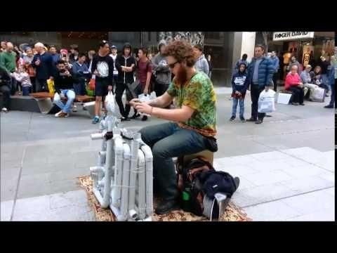 Pipe Guy Street Performance