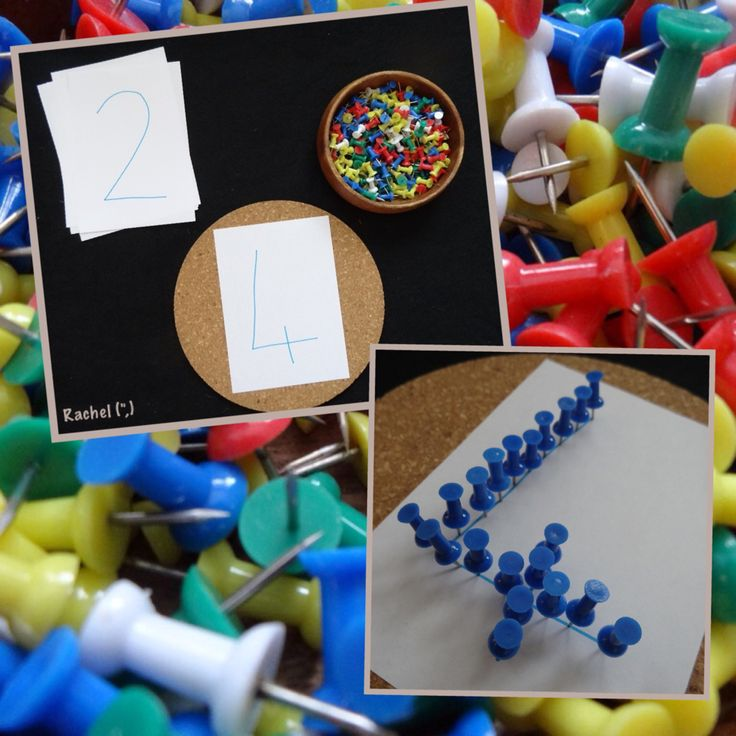 "Numbers and push pins - number recognition, fine motor skills and hand-eye coordination... from Rachel ("",)"