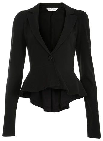 Miss Selfridge Peplum Blazer, love this reminds me of those victorian riding jackets!