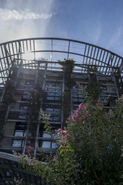 La rue Watt et le Biopark. Au fond, la Halle aux farines de l'université Paris-7 — photo Christophe Noël
