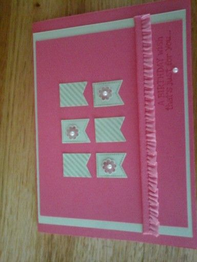Happy Birthday Card, using Stampin' Up Products.......
