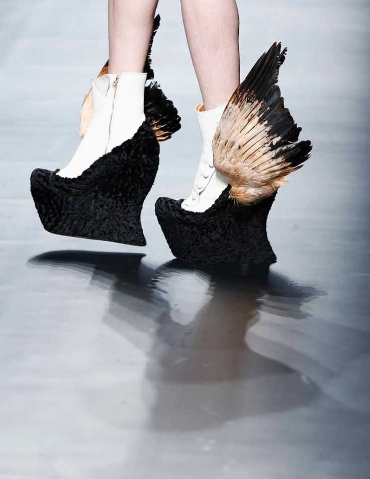 Christian Dada's shoes @Tokyo Japan Japan Fashion Week: Fly away with me :)