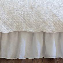 Linen Voile White bed skirt