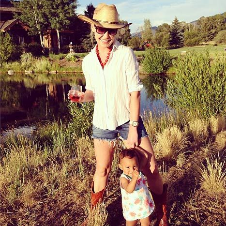 Katherine Heigl and daughter Adelaide
