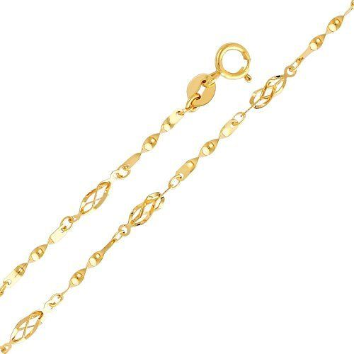 "14K Yellow Gold Fancy Designer Bracelet with Spring Ring Clasp - 7"" + 1"" Extension Goldenmine. $97.00. Imported from Italy...Our 14K Gold Designer Bracelets are an excellent way to add style and beauty to your wardrobe. Simply Elegant.... Carefully designed and selected for the year 2012. This item showcases a brilliant high polish finish for added sparkle and pop. This bracelet can support charm attachments for added uniqueness and individuality"