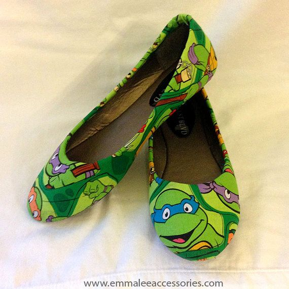 Teenage Mutant Ninja Turtle Flats by EmmaLeeAccessories on Etsy